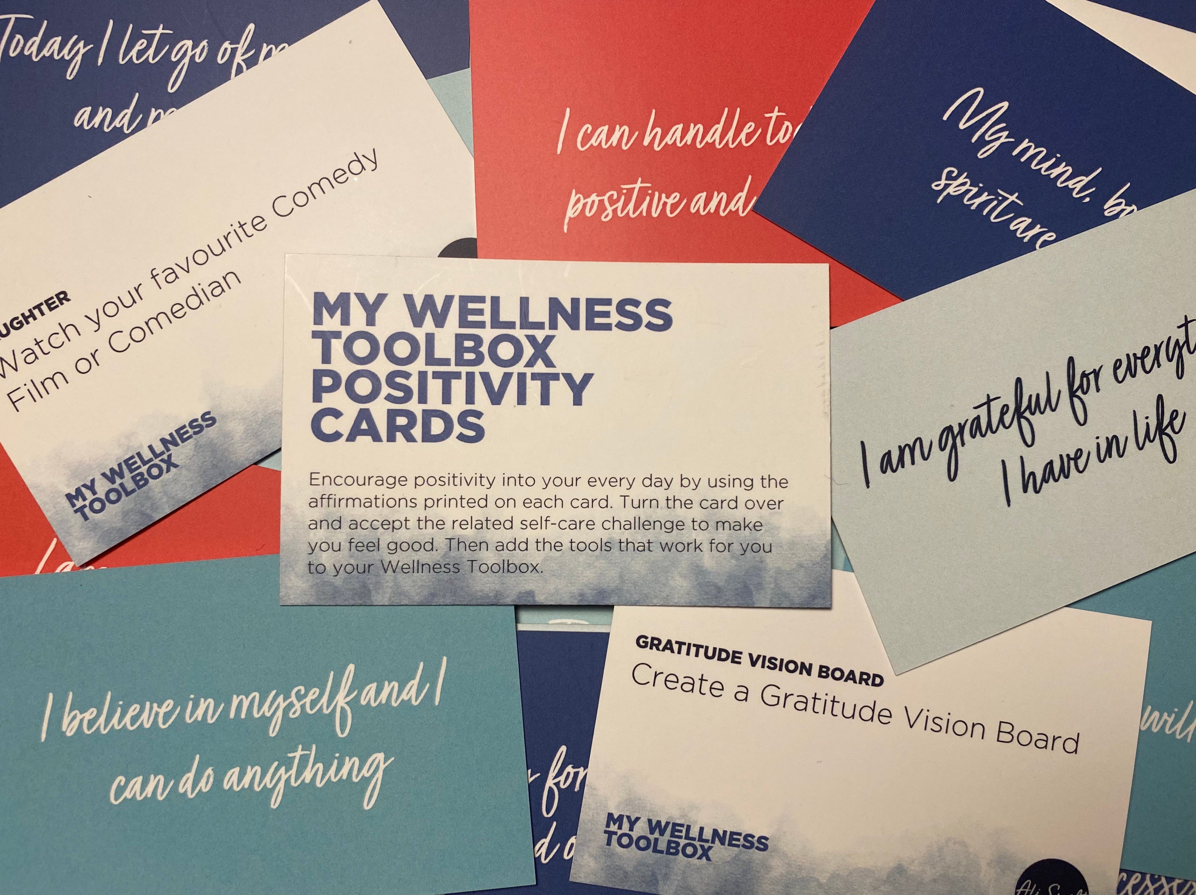 My Wellness Toolbox Paperback Book & Positivity Cards