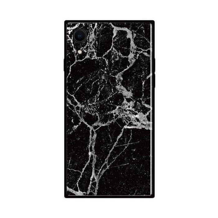 TILE Square Marble Case for iPhone XR - Hamee Strapya World
