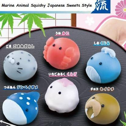 Marine Animal Squishy Japanese Sweets Style Ver. 1 - Hamee Strapya World