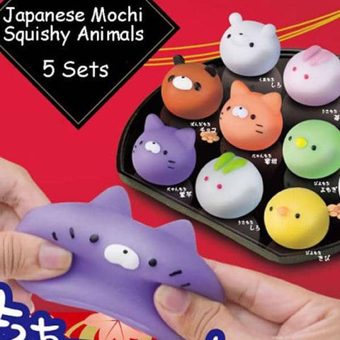 Squishy Animal Japanese Sweets Style (5 Set) - Hamee Strapya World
