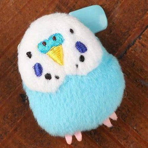 Kotori Collection Birds Plush Badge  (Budgerigar) (Blue) - Hamee Strapya World