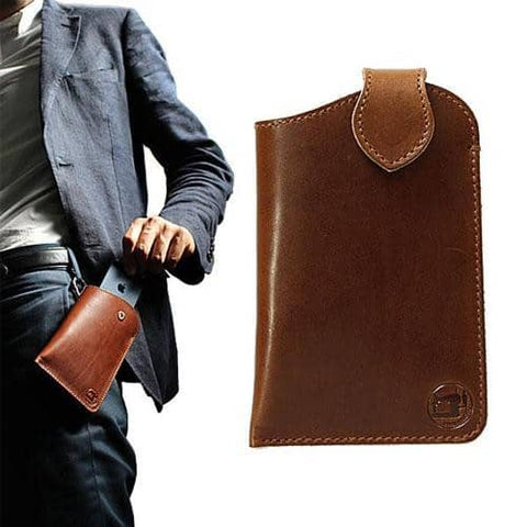 Tochigi Leather Phone Case for Smartphones (Brown) - Hamee Strapya World