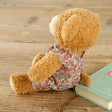 [MADE IN JAPAN] Fluffy Bear Plush - mocopalcchi (Brown Bear in Overalls Flower / Pink) - Hamee Strapya World