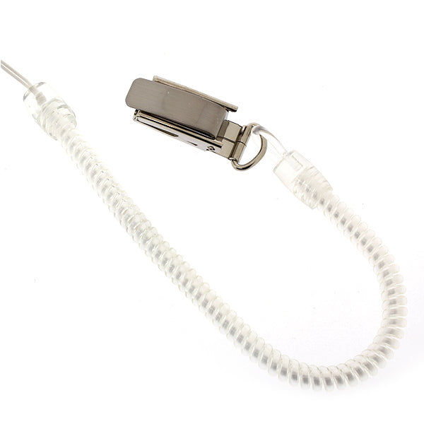 Long Spring Stretchy Coil Cord Strap with Metal Clip (Clear) - Hamee Strapya World