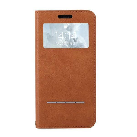 CERTA Window Diary Phone Case for iPhone XS/X (Camel) - Hamee Strapya World