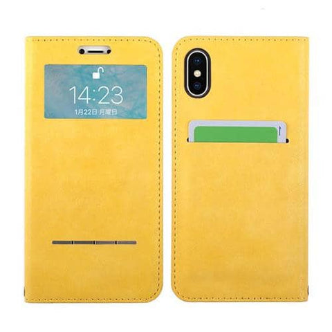 COSMO FLIP Diary Phone Case for iPhone XS/X (Capella/Yellow) - Hamee Strapya World