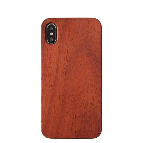 Natural Wood Hard Phone Case for iPhone XS/X (Rose Wood) - Hamee Strapya World