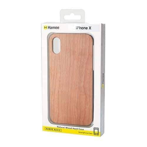 Natural Wood Hard Phone Case for iPhone XS/X - Hamee Strapya World