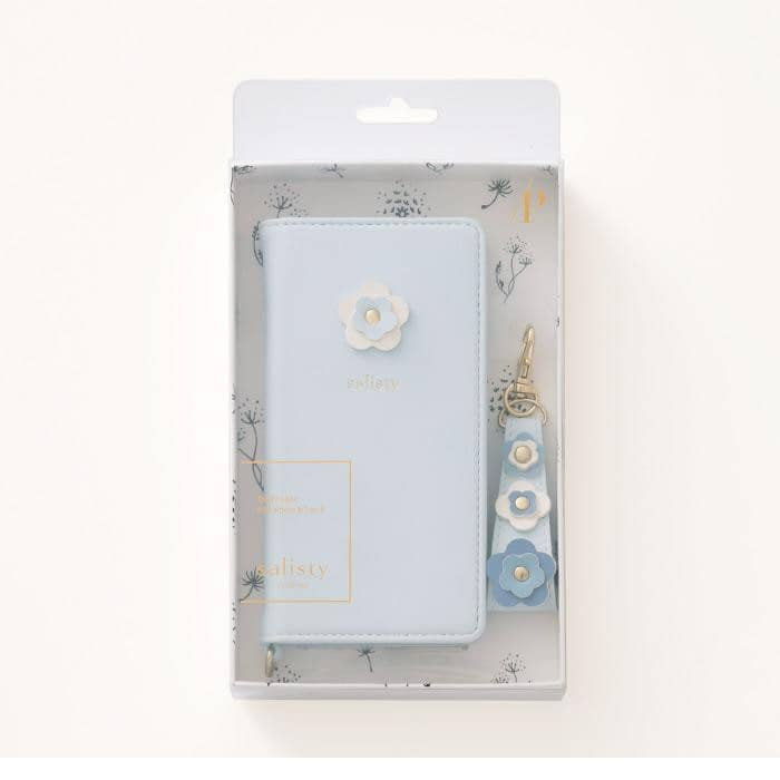 salisty P Flower Studs Diary Phone Case - Hamee Strapya World