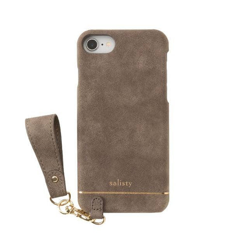 salisty Q Suede Style Hard Phone Case for iPhone 8/7/6s/6 - Hamee Strapya World