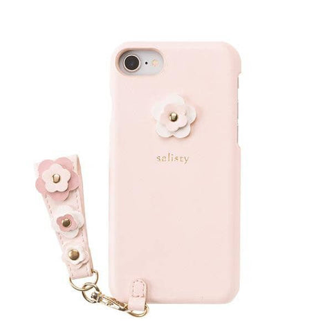 salisty P Flower Studs Hard Phone Case for iPhone 8/7/6s/6 (Baby Pink) - Hamee Strapya World