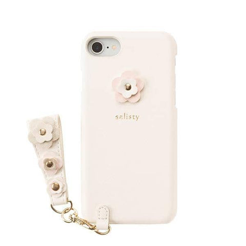 salisty P Flower Studs Hard Phone Case for iPhone 8/7/6s/6 (Off White) - Hamee Strapya World