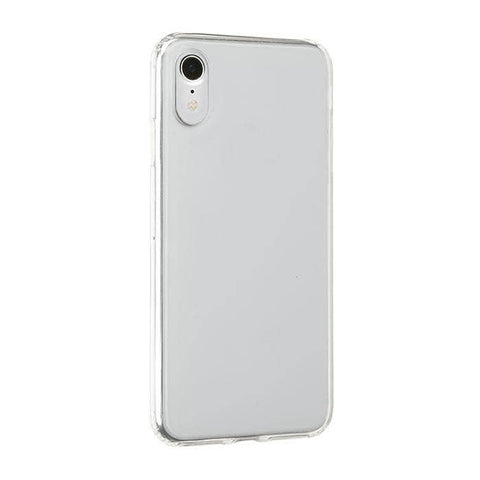 Side Colored Clear Hybrid Phone Case for iPhone XR (Clear)