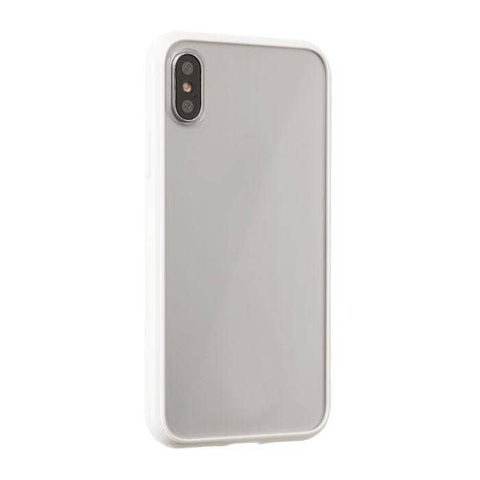 Side Colored Clear Hybrid Phone Case for iPhone XS Max (White)