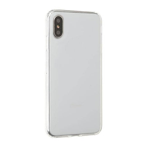 Side Colored Clear Hybrid Phone Case for iPhone XS Max (Clear)