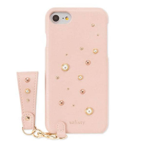salisty P Pearl Studs Hard Case for iPhone 8/7/6s/6 (Dusty Pink)