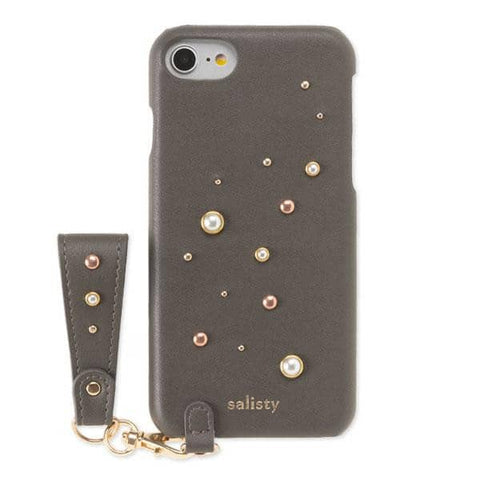 salisty P Pearl Studs Hard Case for iPhone 8/7/6s/6 (Charcoal Black) - Hamee Strapya World