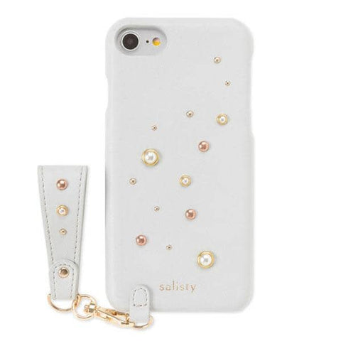 salisty P Pearl Studs Hard Case for iPhone 8/7/6s/6 (Pale Blue)