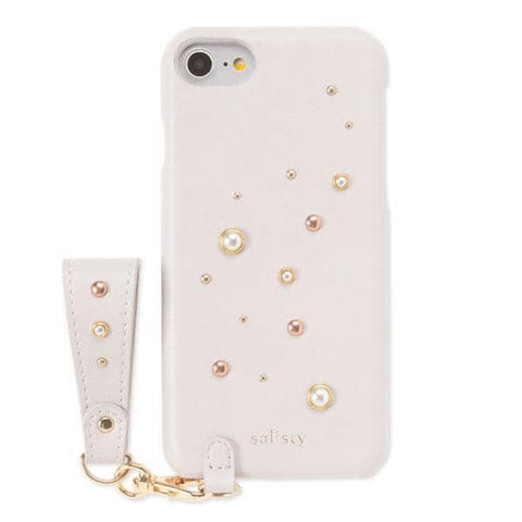 salisty P Pearl Studs Hard Case for iPhone 8/7/6s/6 (Lavender) - Hamee Strapya World