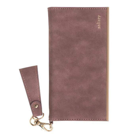 salisty Q Suede Style Diary Phone Case (Smoky Pink) - Hamee Strapya World
