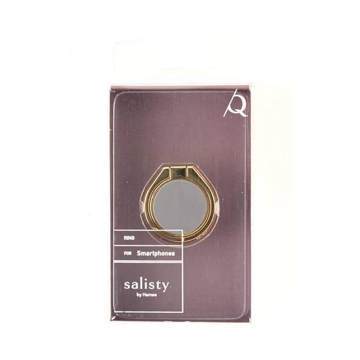 salisty Q Matte Color Smartphone Ring (Charcoal Black) - Hamee Strapya World