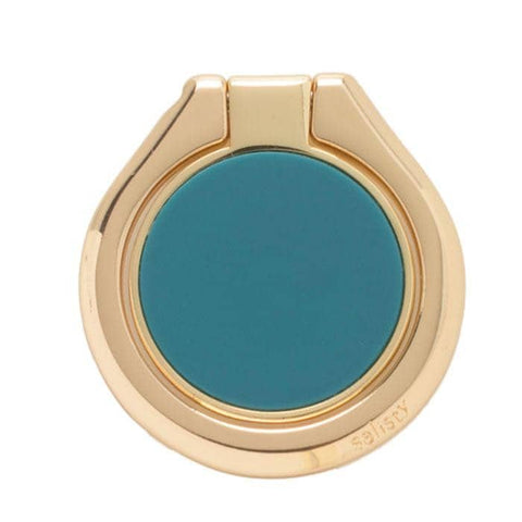 salisty Q Matte Color Smartphone Ring (Turquoise) - Hamee Strapya World