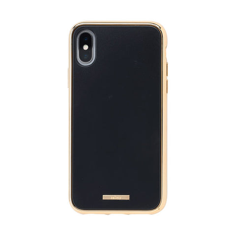 salisty Q Impact Resistant Hard Phone Case for iPhone XS/X (Charcoal Black) - Hamee Strapya World