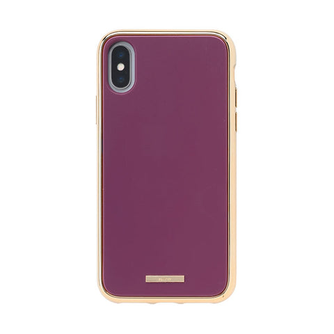 salisty Q Impact Resistant Hard Phone Case for iPhone XS/X (Fuchsia Purple) - Hamee Strapya World