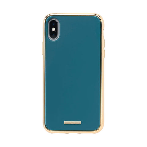 salisty Q Impact Resistant Hard Phone Case for iPhone XS/X (Turquoise) - Hamee Strapya World