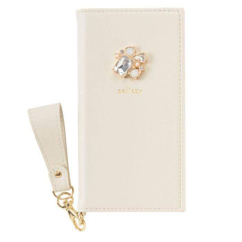 salisty P Bijou Diary Phone Case (Light Beige) - Hamee Strapya World