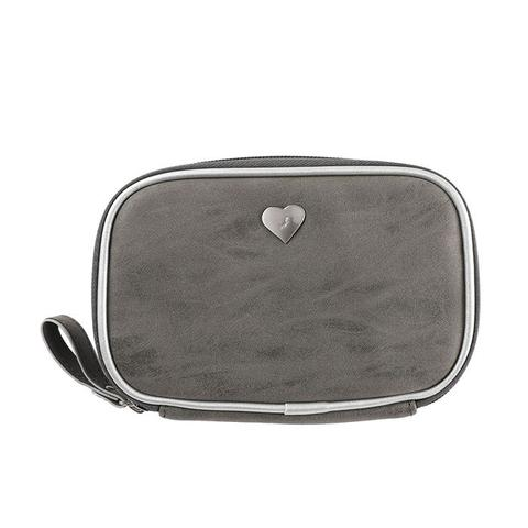salisty P Silver Heart Gadget Pouch - Hamee Strapya World