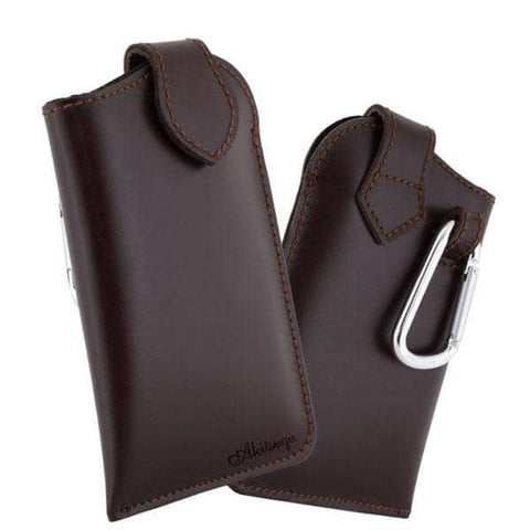 Made in Japan Hand-made Soft Leather Personalized Phone Case (Brown) - Hamee Strapya World