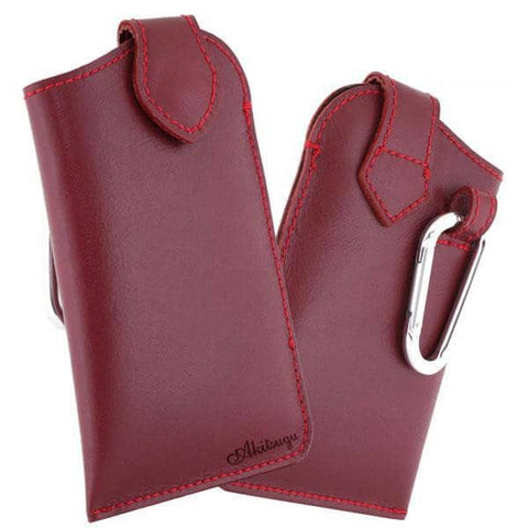 Made in Japan Hand-made Soft Leather Personalized Phone Case (Red) - Hamee Strapya World