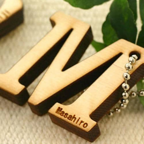 Alphabet Wood Custom (Personalized) Name Tag Strap - Hamee Strapya World