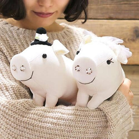 Ton-Ton Wedding Pig Plush (L Size) - Hamee Strapya World