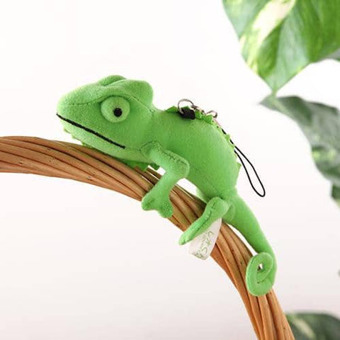 Chameleon Plush Strap (Green) - Hamee Strapya World