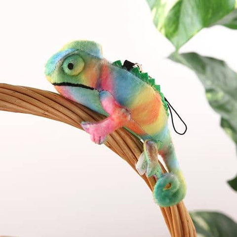Chameleon Plush Strap (Rainbow Green) - Hamee Strapya World