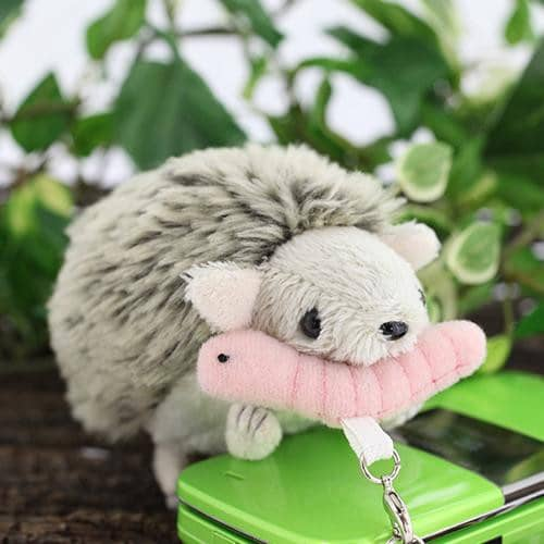 Hedgehog Chippi Plush Strap - Hamee Strapya World