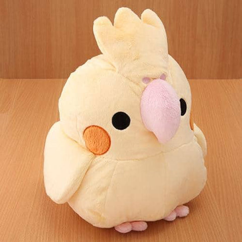 Soft and Downy Bird Plush - Munyu Mamu Series (Cockatiel) (Yellow) (XL Size) - Hamee Strapya World
