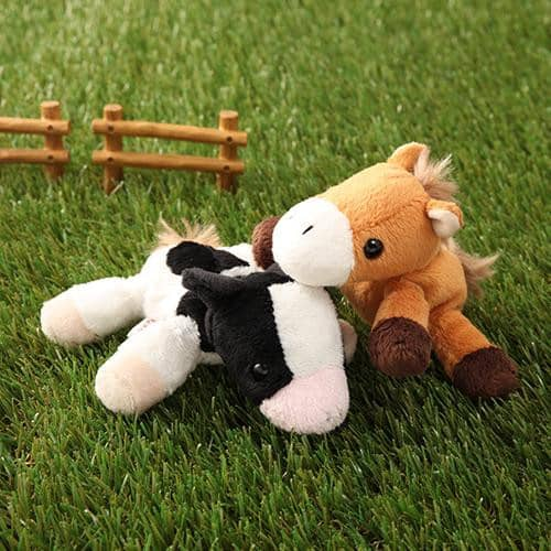 Horse &  Cow Plush - Little Beans Series - Hamee Strapya World