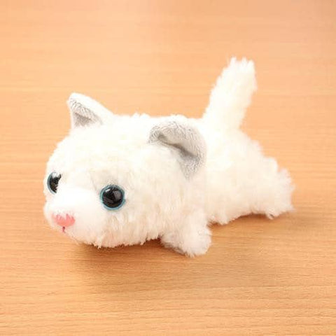Little Beans Plush (Cat) (White) - Hamee Strapya World