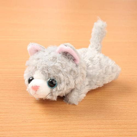 Little Beans Plush (Cat) (Grey) - Hamee Strapya World