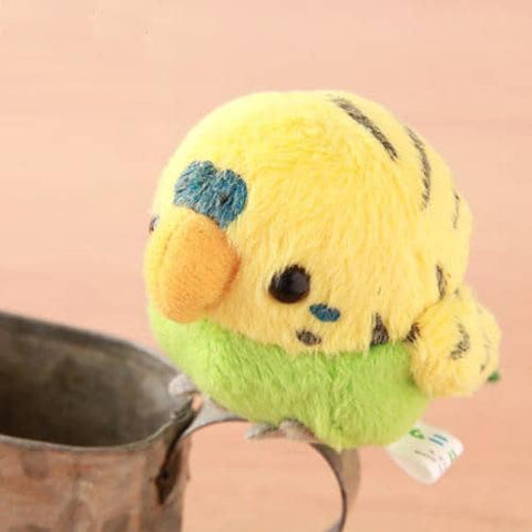 Soft and Downy Bird Plush Magnet Munyu-Mamu Series (Budgerigar) (Yellow) - Hamee Strapya World