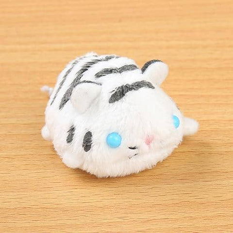 Soft and Downy Animal Plush Beanbag Munyu-Mamu Series (White Tiger) - Hamee Strapya World