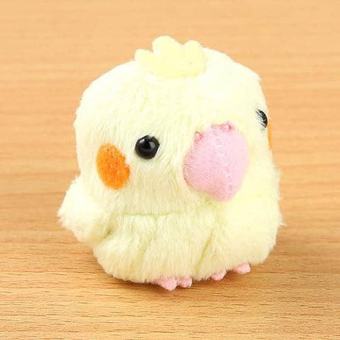 Soft and Downy Bird Cockatiel Plush Beanbag Munyu-Mamu Series (Yellow) - Hamee Strapya World