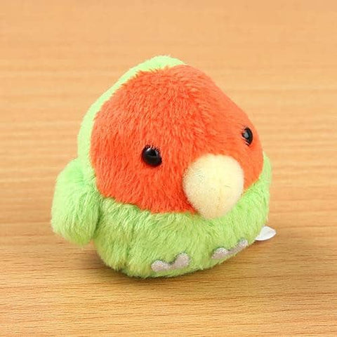 Soft and Downy Bird Plush Beanbag Munyu-Mamu Series (Love-Bird) - Hamee Strapya World