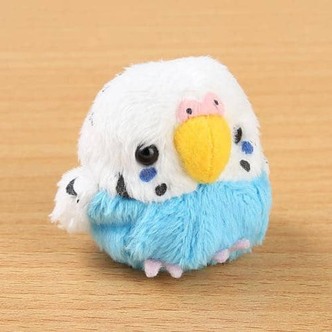 Soft and Downy Bird Plush Beanbag Munyu-Mamu Series (Budgerigar) (Blue) - Hamee Strapya World