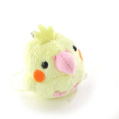 Soft and Downy Bird Cockatiel Plush Strap Munyu-Mamu Series (Yellow) - Hamee Strapya World