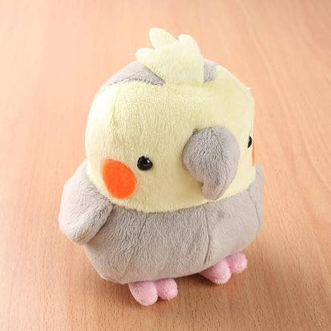 Soft and Downy Bird Plush Munyu-Mamu Series (Cockatiel) (Grey) - Hamee Strapya World