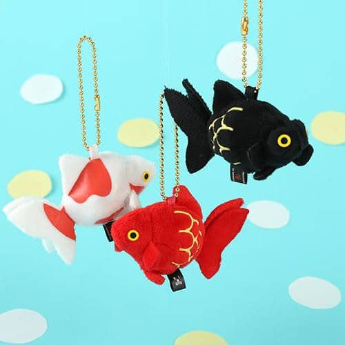 Goldfish Bell Sound Plush Ball Chain - Hamee Strapya World